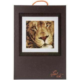 LanArte King Of Animals On Aida Counted Cross Stitch Kit