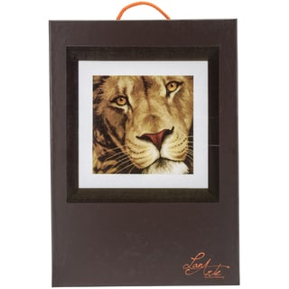 LanArte King Of Animals On Cotton Counted Cross Stitch Kit