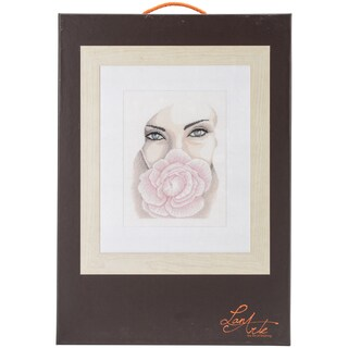 LanArte Floating On Linen Counted Cross Stitch Kit