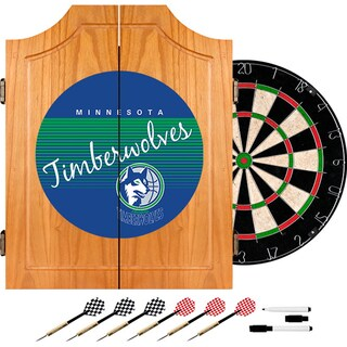 Minnesota Timberwolves Hardwood Classics NBA Wood Dart Cabinet