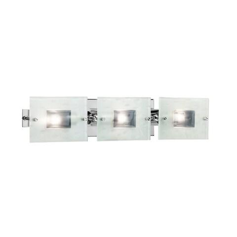 Contemporary 3-light Chrome Bath/ Vanity Light