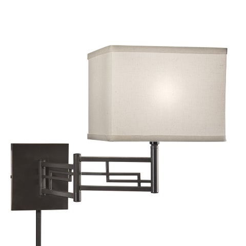Copper Grove Wainfleet Transitional 1-light Bronze Swing Arm Pin-up Plug-in Wall Lamp