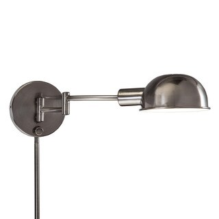 Laurel Creek Catherine Transitional 1-light Antique Pewter Swing Arm Pin-up Plug-in Wall Lamp