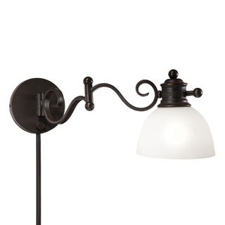 1light bronze swing arm pinup plugin wall lamp