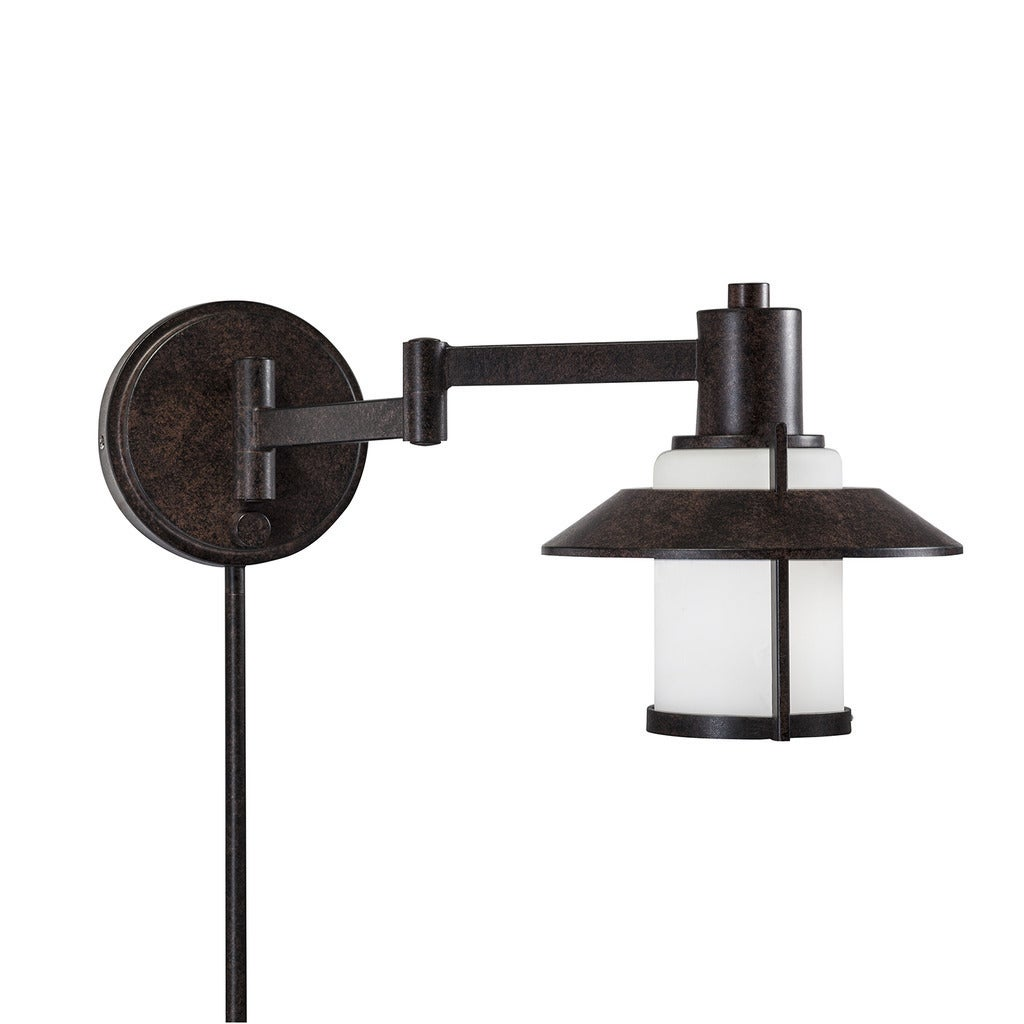 transitional 1 light tannery bronze swing arm pin up plug in wall lamp ebay. Black Bedroom Furniture Sets. Home Design Ideas