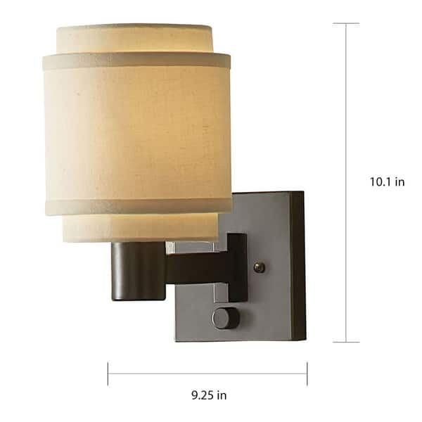 Transitional 1 Light Oil Rubbed Bronze Swing Arm Pin Up Plug In Wall Lamp