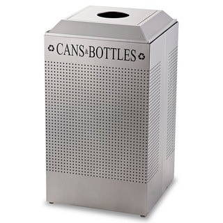 Rubbermaid Commercial Silver 29gal Silhouette Can/Bottle Recycling Receptacle (Option: Silver)