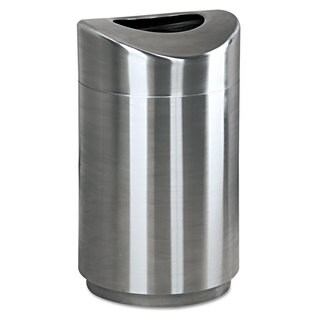 Rubbermaid Commercial Stainless Steel 30gal Eclipse Open Top Waste Receptacle