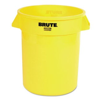 Rubbermaid Commercial Yellow 20 gal Round Brute Container