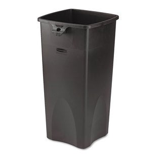 Rubbermaid Commercial Black 23gal Untouchable Waste Container