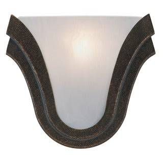 Transitional 1-light Provincial Mahogany Wall Sconce