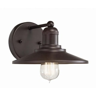 Transitional 1-light Architectural Bronze Wall Sconce