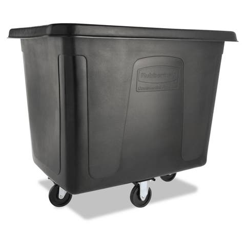 Rubbermaid Commercial Black 500 lbs Cap Cube Truck