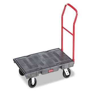 Rubbermaid Commercial Black 1000lb Capacity Heavy-Duty Platform Truck Cart