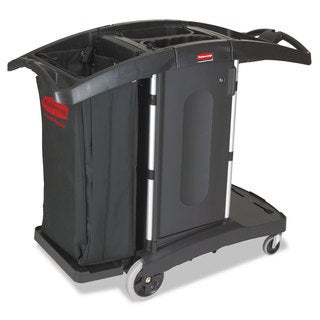 Rubbermaid Commercial Black Compact Folding Housekeeping Cart