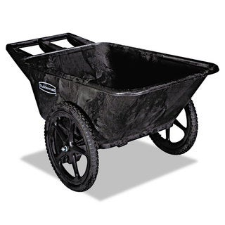 Rubbermaid Commercial Black 300-lb Cap Big Wheel Agriculture Cart