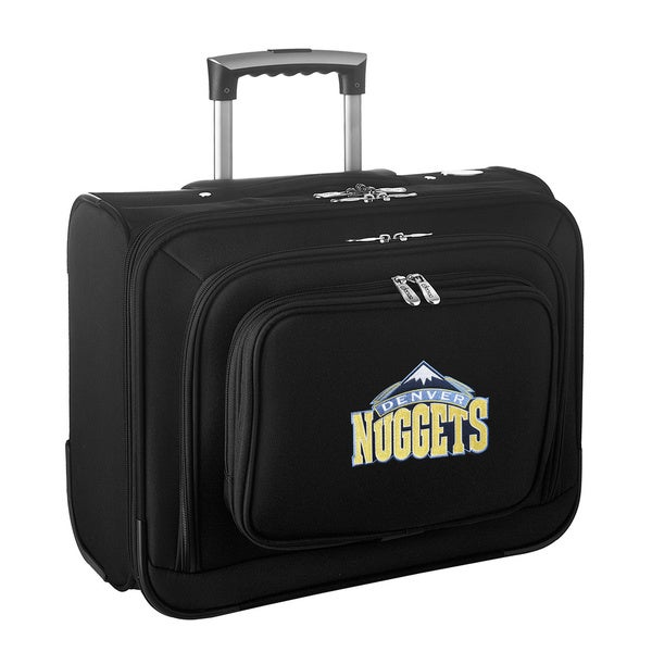 Denco Sports Legacy NBA Denver Nuggets Carry On 14-inch Laptop Rolling Overnight Tote