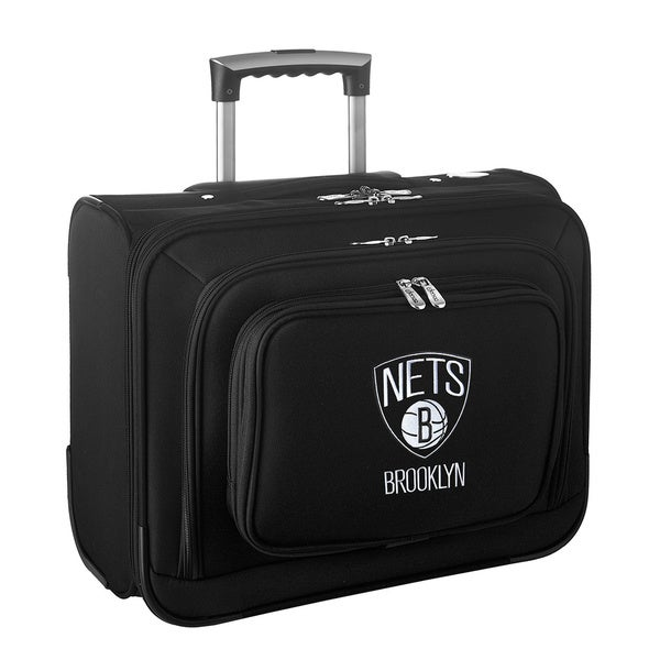 Denco Sports Legacy NBA Brooklyn Nets Carry On 14-inch Laptop Rolling Overnight Tote