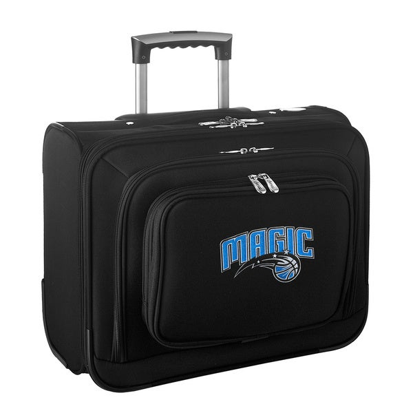 Denco Sports Legacy NBA Orlando Magic Carry On 14-inch Laptop Rolling Overnight Tote