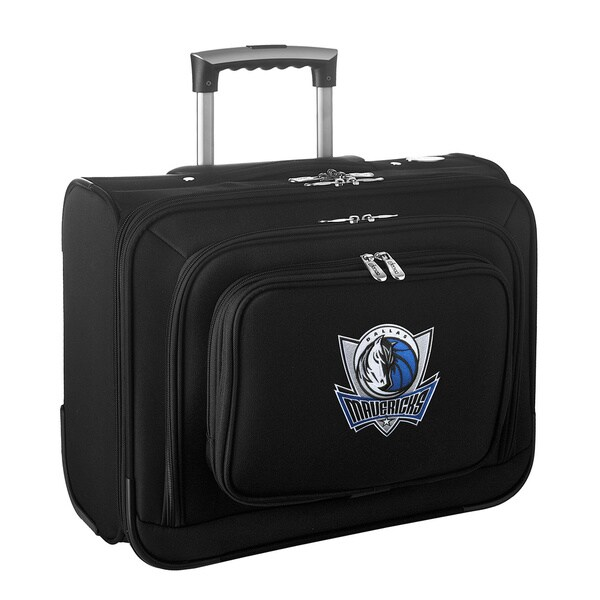Denco Sports Legacy NBA Dallas Mavericks Carry On 14-inch Laptop Rolling Overnight Tote