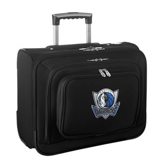 Denco Sports Legacy NBA Dallas Mavericks Carry On 14-inch Laptop Rolling Overnight Tote