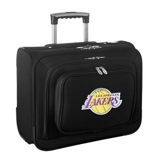Denco Sports Legacy NBA Los Angeles Lakers Carry On 14-inch Laptop Rolling Overnight Tote