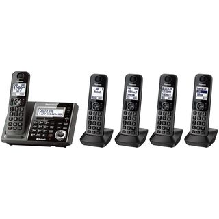 Panasonic KX-TG585SK DECT 6.0 Metallic Grey 5-handset Landline Telephone (Refurbished)