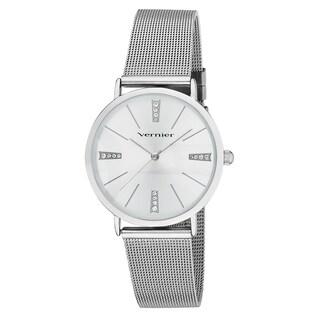 Vernier Women's Mesh Strap Crystal Marker Watch