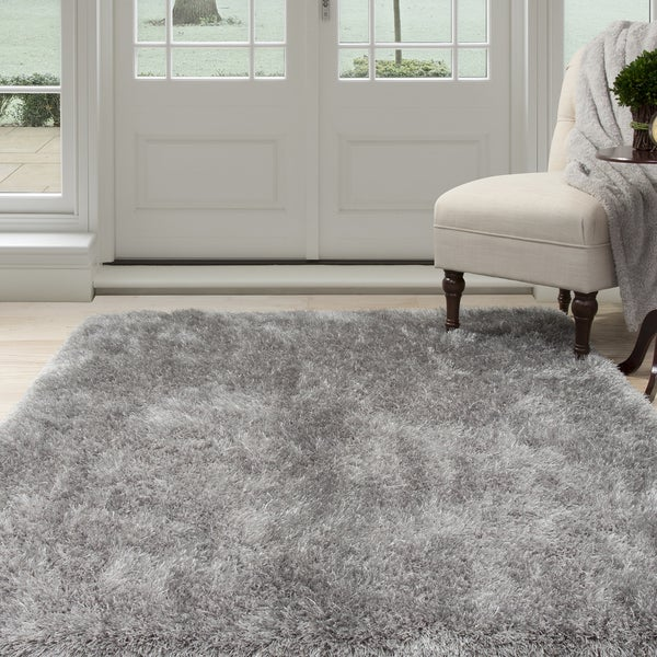 Windsor Home Grey Shag Area Rug (8' x 10')