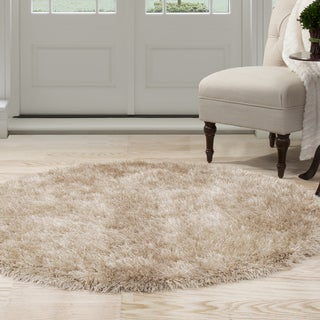 Windsor Home Shag Area Rug - Natural - 5' Round