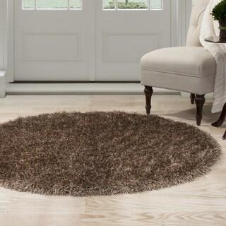 Windsor Home Shag Area Rug - Mocha - 5' Round