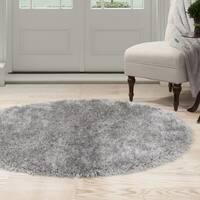 Windsor Home Shag Area Rug - Grey - 5' Round
