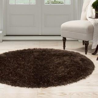 Windsor Home Shag Area Rug - Chocolate - 5' Round