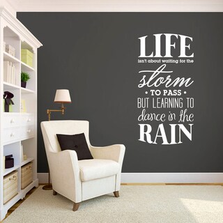 Learning To Dance in The Rain 30 x 60 Wall Decal