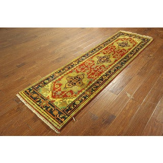 Heriz Hand-knotted Wool Veg Dyed Serapi Persian Floral Area Rug (3' x 8')