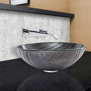 VIGO Interspace Glass Vessel Sink and Titus Faucet Set in Chrome