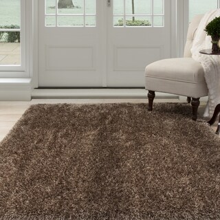 Windsor Home Shag Area Rug - Mocha - 5'3 x7'7