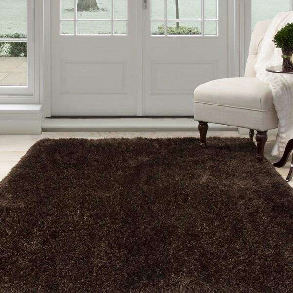 "Windsor Home Shag Area Rug - Chocolate - 5'3"" x 7'7"""