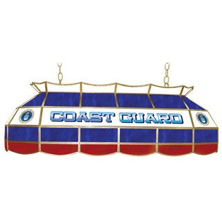 U.S. Coast Gaurd Stained Glass 40 Inch Lighting Fixture