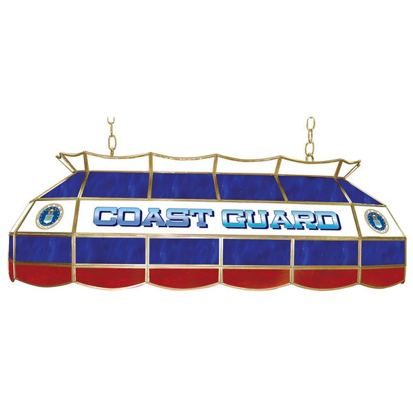 U.S. Coast Gaurd Stained Glass 40 Inch Lighting Fixture