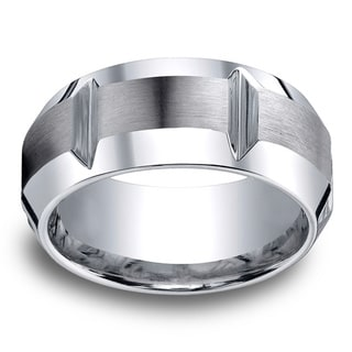 Cobalt Men's 10mm Comfort Fit Gear Cut Ring