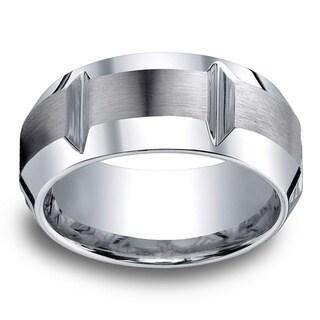 Cobalt Men's 10mm Comfort Fit Gear Cut Ring