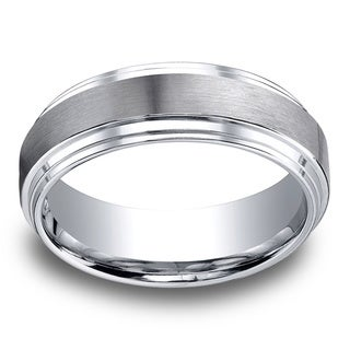 Cobalt Men's 8mm Satin Finish Comfort Fit Ring
