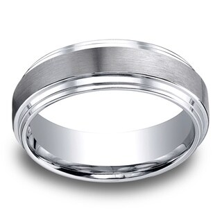 Cobalt Men's 8mm Satin Finish Comfort Fit Ring