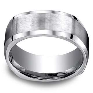 Titanium Men's 9mm Comfort Fit 4-sided Ring