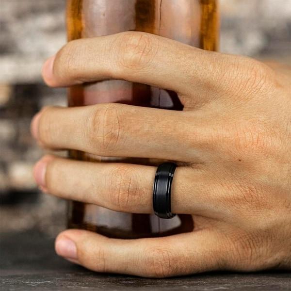 Titanium 8mm Satin Mens Wedding Ring Band Size 13