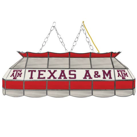 Texas A&M University Stained Glass 40 Inch Tiffany Lamp