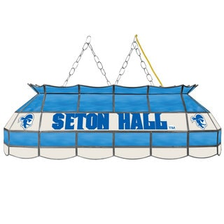 Seton Hall University Stained Glass 40 Inch Tiffany Lamp