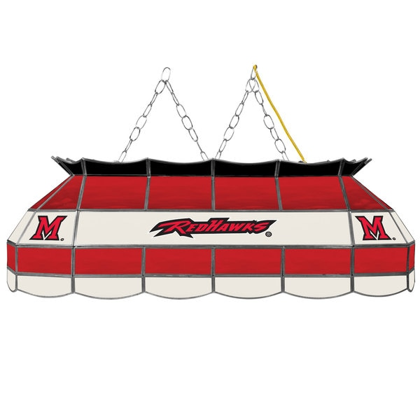 Miami University, Ohio Stained Glass 40 Inch Tiffany Lamp