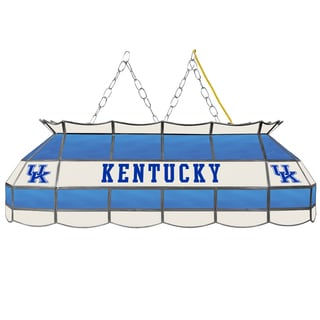 University of Kentucky Handmade Tiffany Style Lamp - 40 Inch - Blue